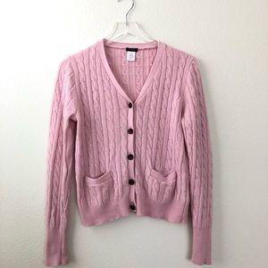 J. Crew Pink Long Sleeve Wool Cardigan - Size S